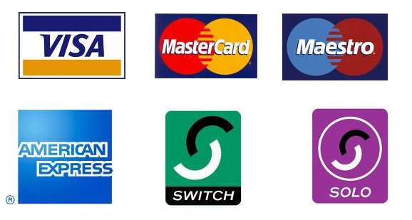 credit cards logos. credit cards including